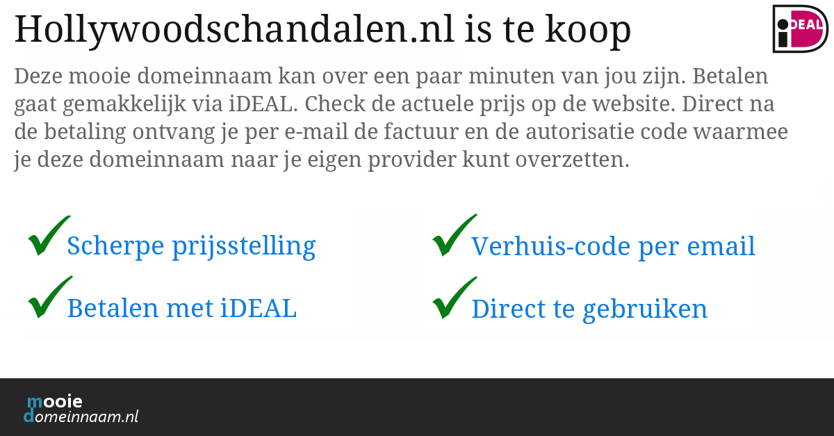 (c) Hollywoodschandalen.nl